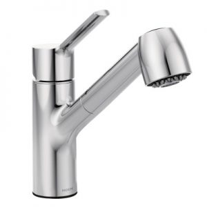 Moen Modern Method Collection Chrome One-Handle Kitchen Faucet